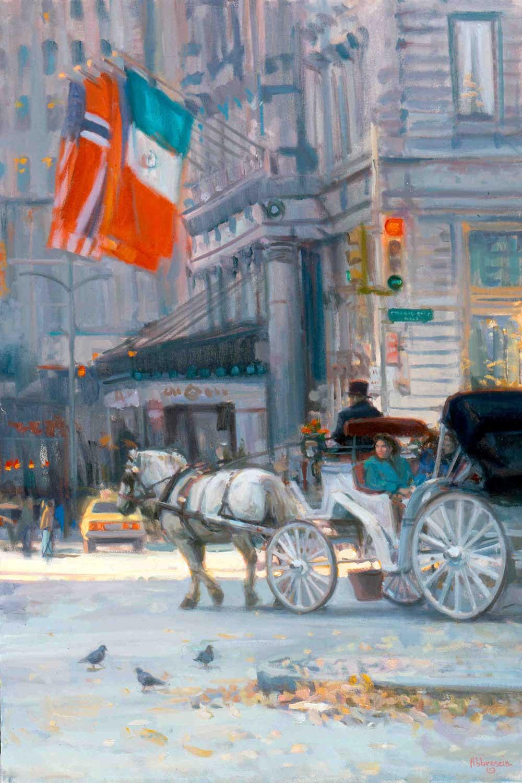 """The Plaza, New York"", by Joe Abbrescia"