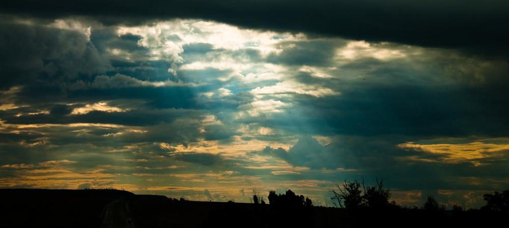 God light over Drakensberg