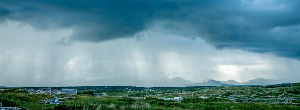 Rain on the Twelve Bens, Carna, Connemara