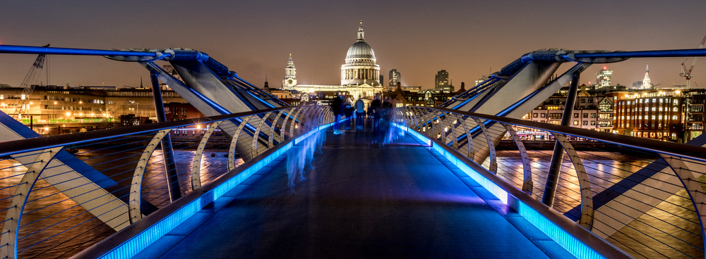 St Paul's from Millennium Bridge - copyright Joe Houghton 2015