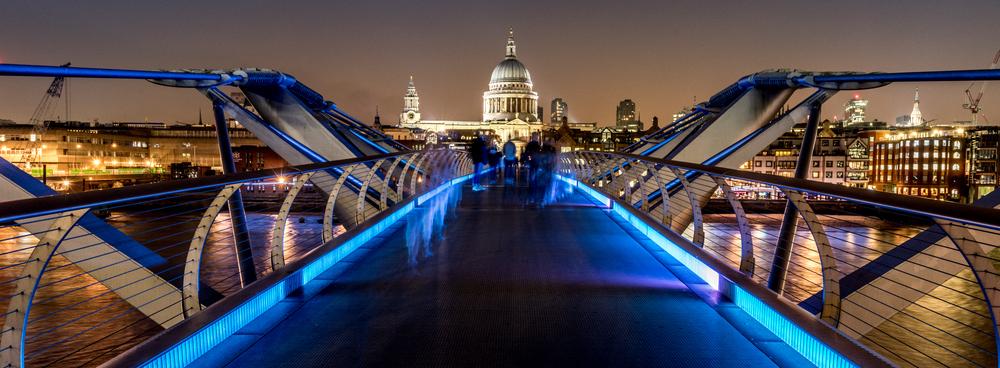 St Paul's from Millennium Bridge - copyright Joe Houghton 2015