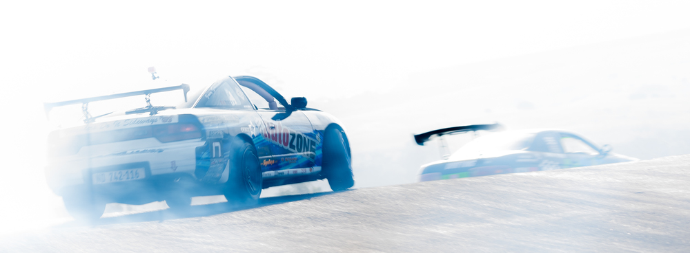 On the crest - drift racing at Port Shepstone, KZA
