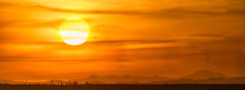 Orbit Hills sunset