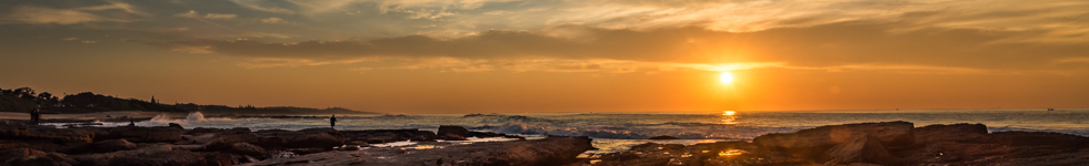 Sunrise over Shelly Beach KZN