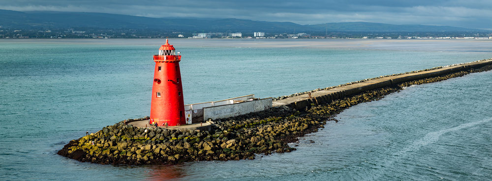 Poolbeg lighthouse, Dublin Bay
