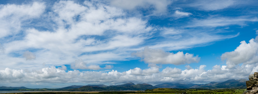 Snowdonia from Harlech Castle