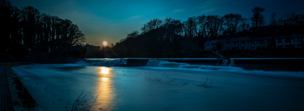 Sunset over Lucan Weir