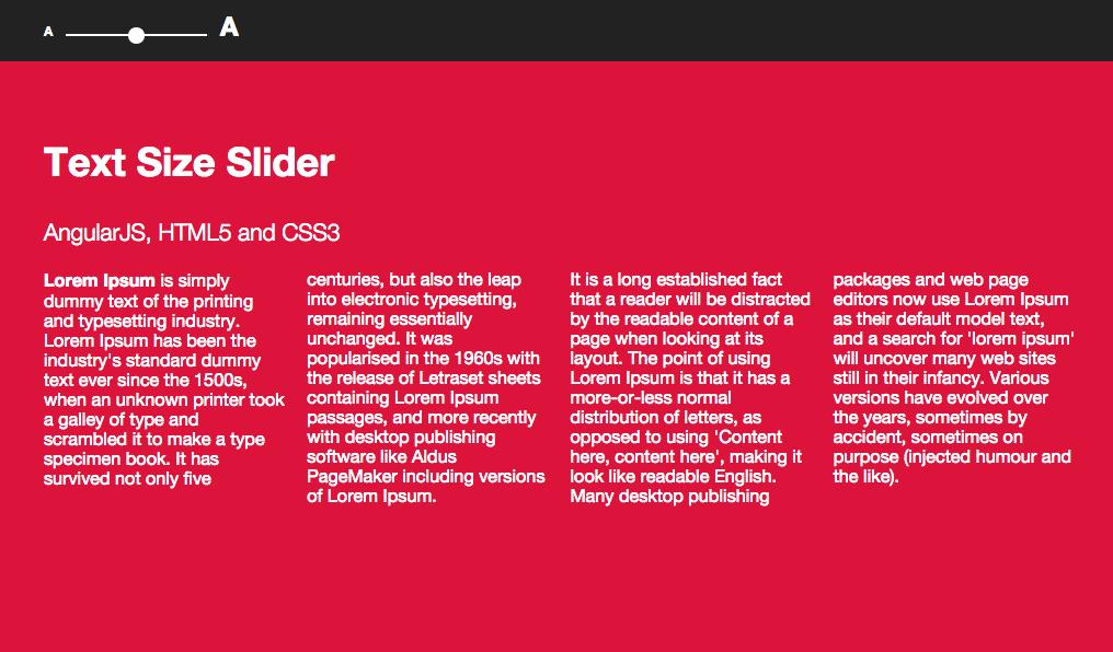 Text Size Slider with AngularJS — Alex Castillo