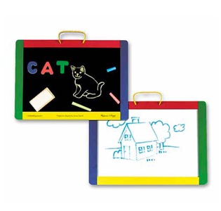 Melissa & Doug Magnetic Chalkboard and Dry-Erase Board