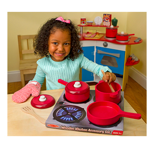 Melissa & Doug Play Kitchen Accessory Set - Pot & Pans