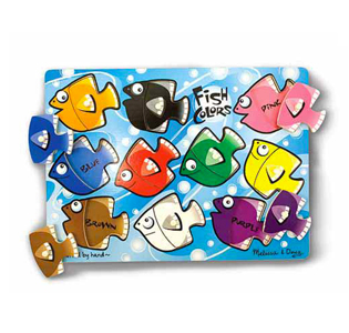 Melissa & Doug Fish Colors Mix 'n Match Peg Puzzle - 10 pieces