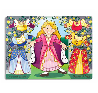 Melissa & Doug Princess Dress-Up Mix 'n Match Peg Puzzle - 8 Pieces