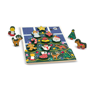 Melissa & Doug Christmas Tree Chunky Puzzle - 13 Pieces