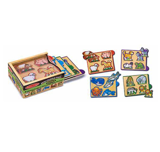 Melissa & Doug Animals Mini-Puzzle-Pack
