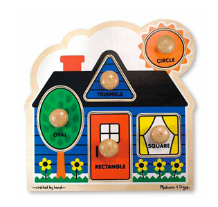 Melissa & Doug First Shapes Jumbo Knob - 5 Pieces