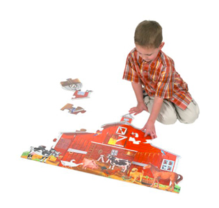 Melissa and Doug Farm Friends 32 Pc Floor Puzzle