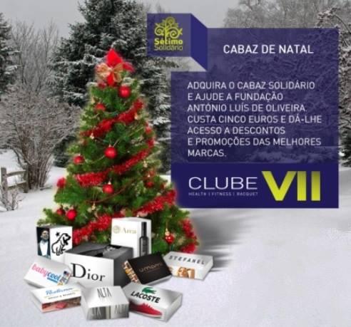 Adquira um Cabaz Solidário no Clube VII e ajude a Fundação António Luís Oliveira.