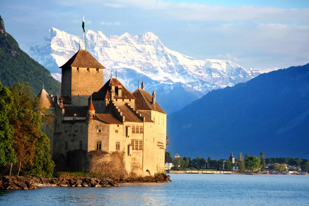 Chateau Chillon in Montreux, Switzerland