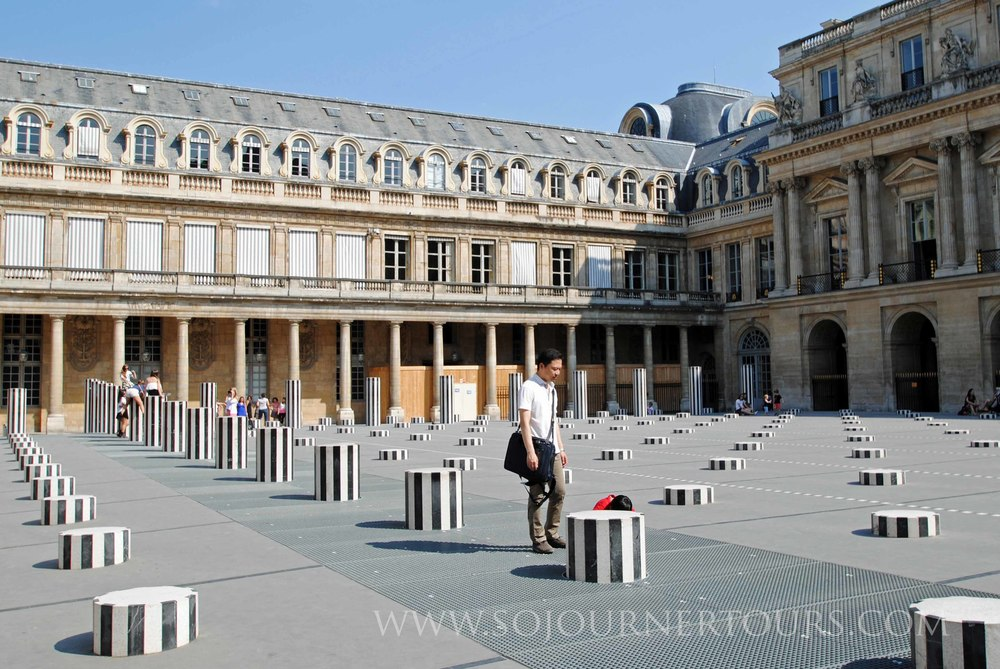 Colonnes de Buren, Palais-Royal: Paris, France (Sojourner Tours)