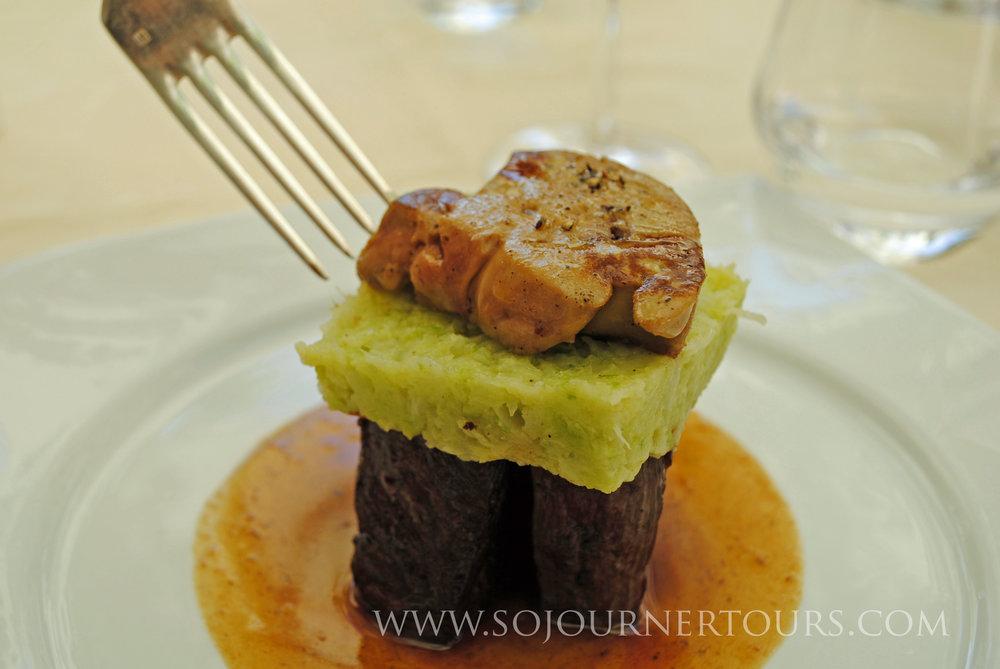 Refined cuisine from a Périgord restaurant.