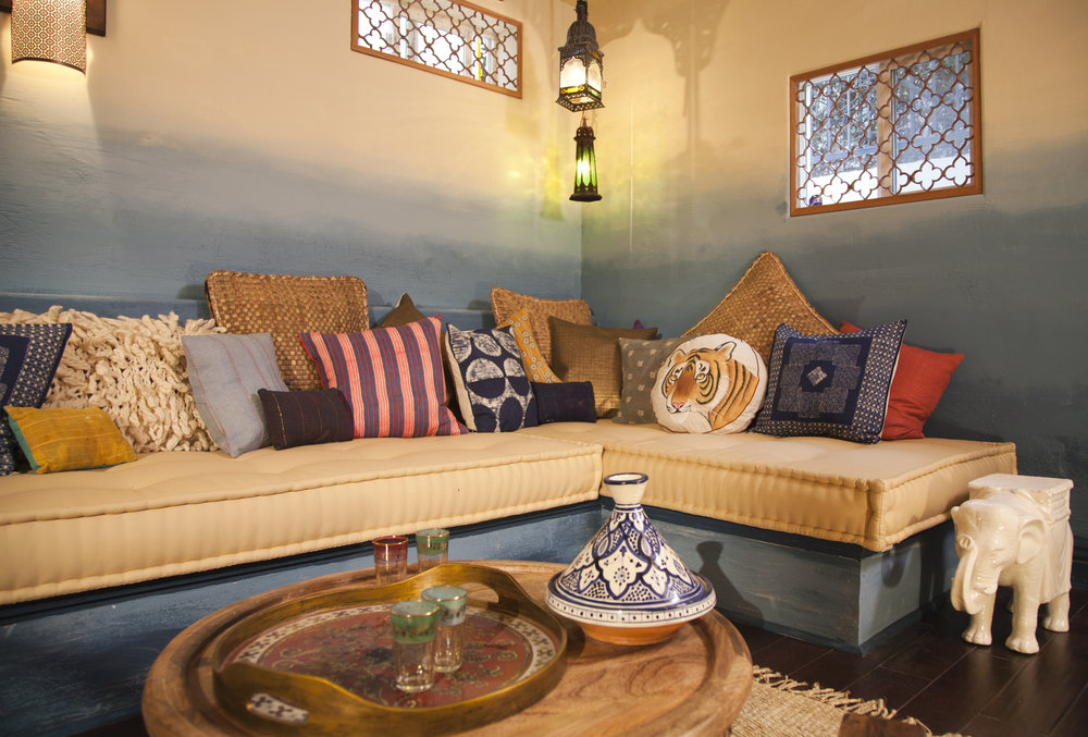 Moroccan Inspired Basement - for HGTV's Room Crashers