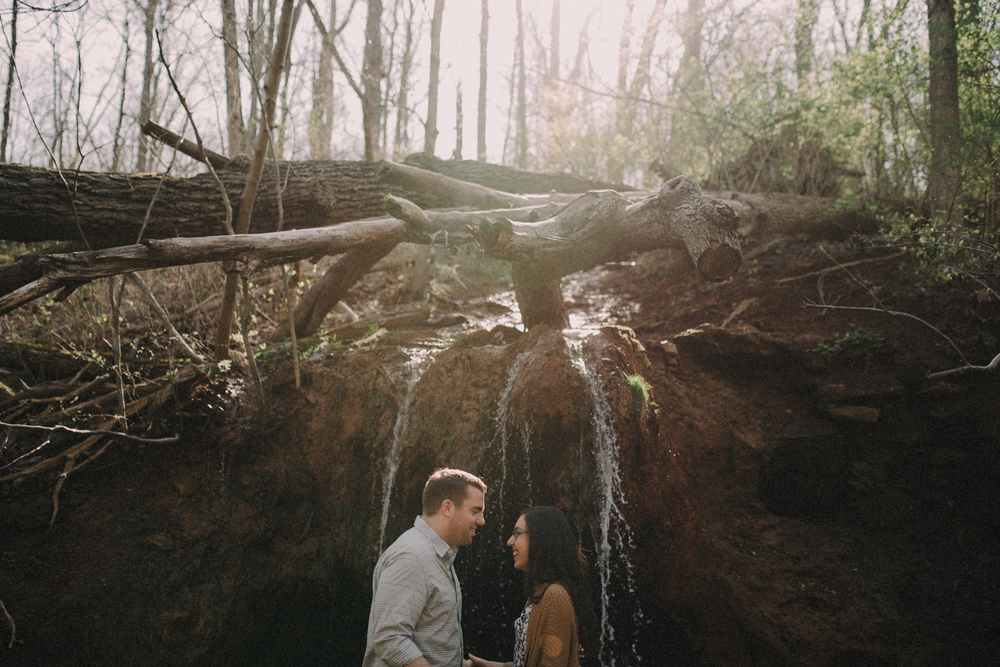 Glen Helen Waterfall / Engagement
