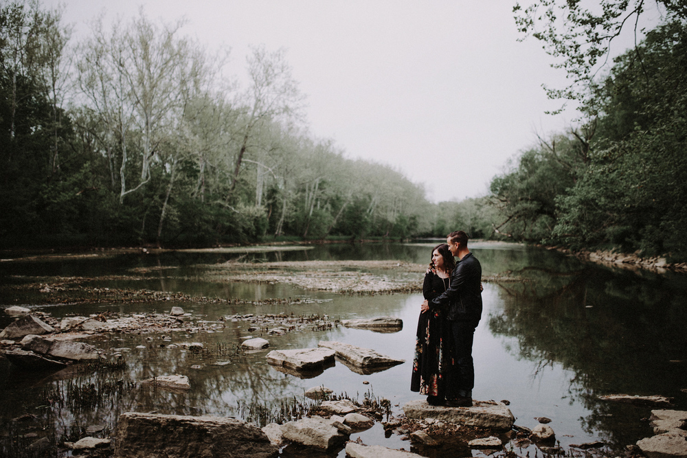 Bohemian Outdoor Ohio Engagement Photography