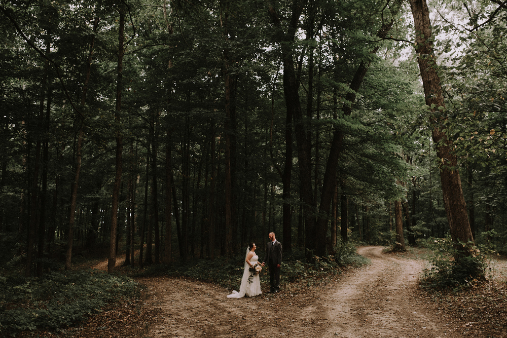 Whimsical Wooded Midwest Wedding Photography