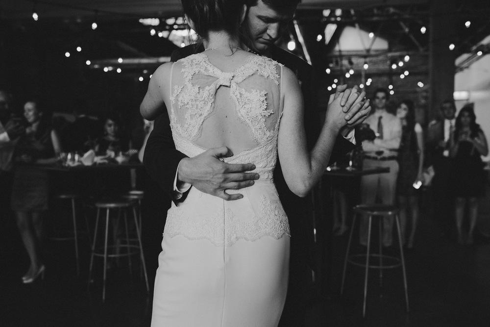 The First Dance - BHDLN Wedding Dress - Strongwater Wedding - Columbus Ohio Wedding Photography