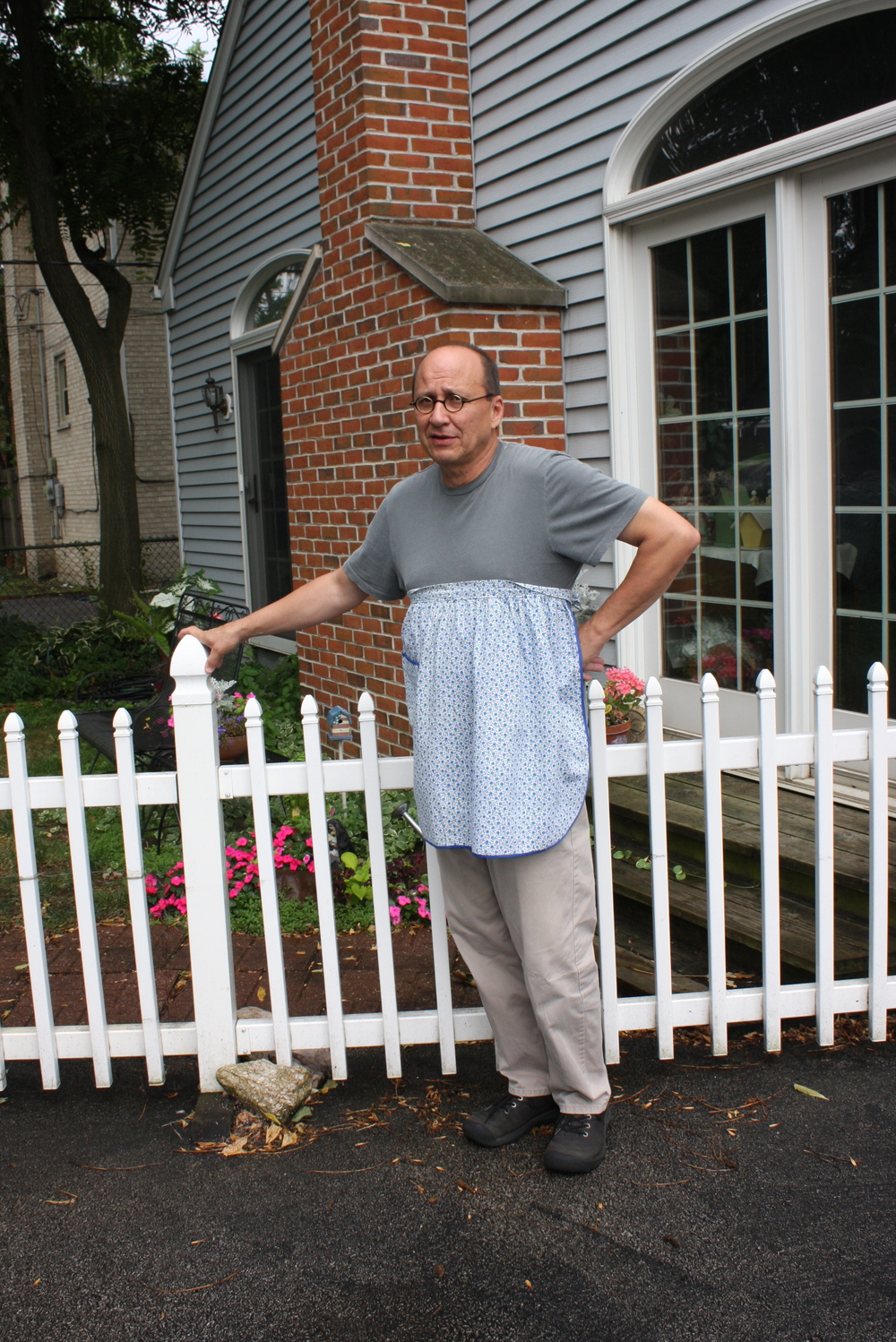 """Men in Aprons--White Picket Fence--Scott"""