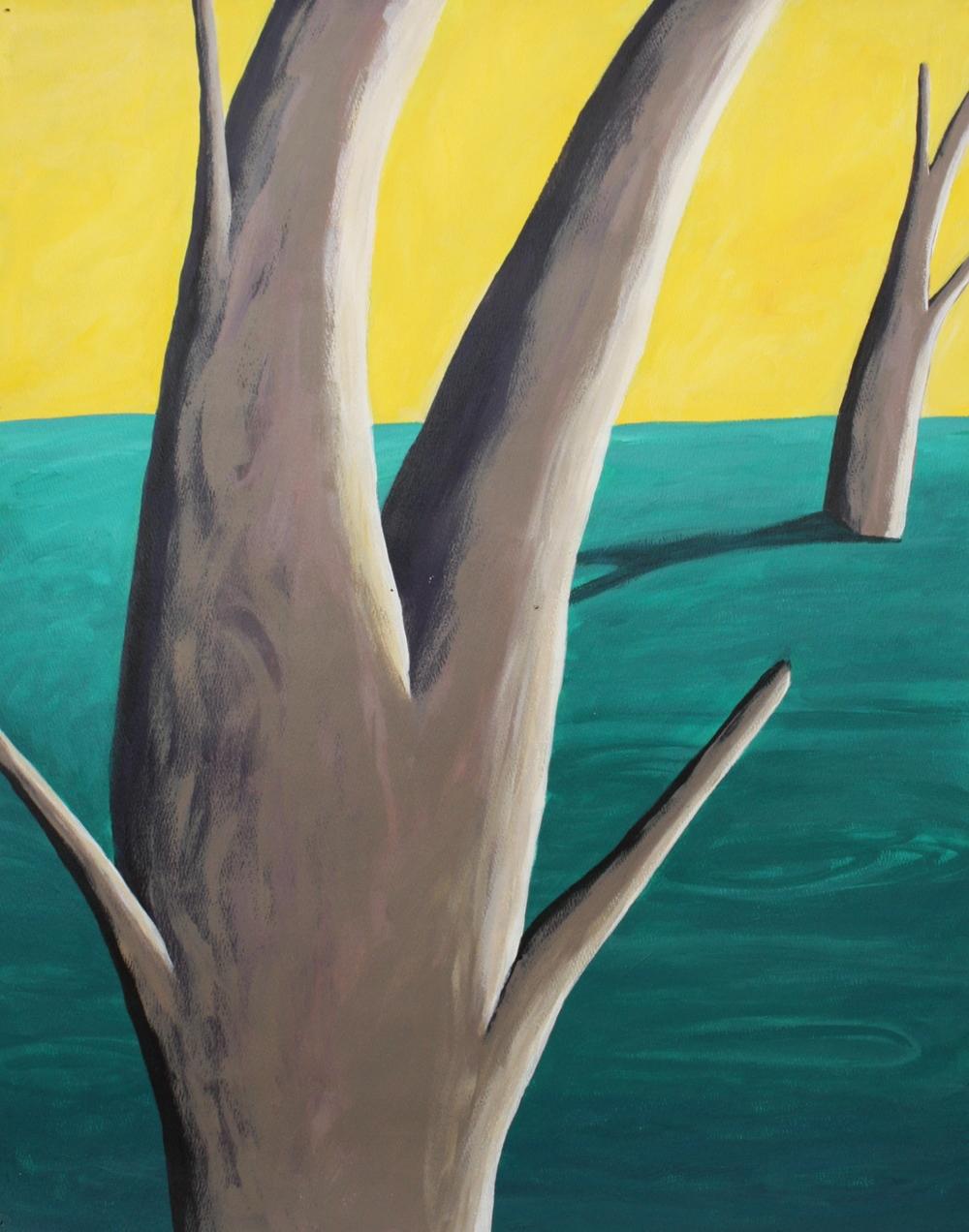 """Tree Legs with Yeloow Sky"""