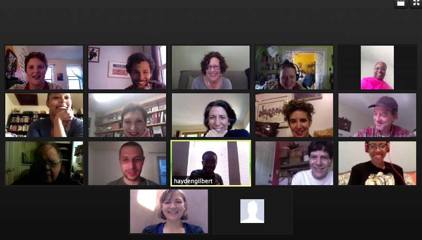 First cohort cultural agents tuning in for a training call.