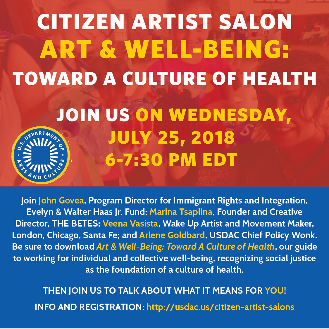 Citizen Artist Salon: Art & Well-Being — U.S. Department of Arts and Culture