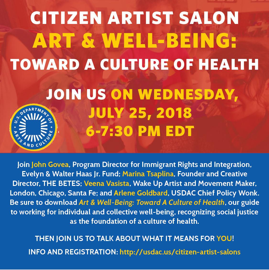 Citizen Artist Salon: Art & Well-Being — U.S. Department of Arts and Culture