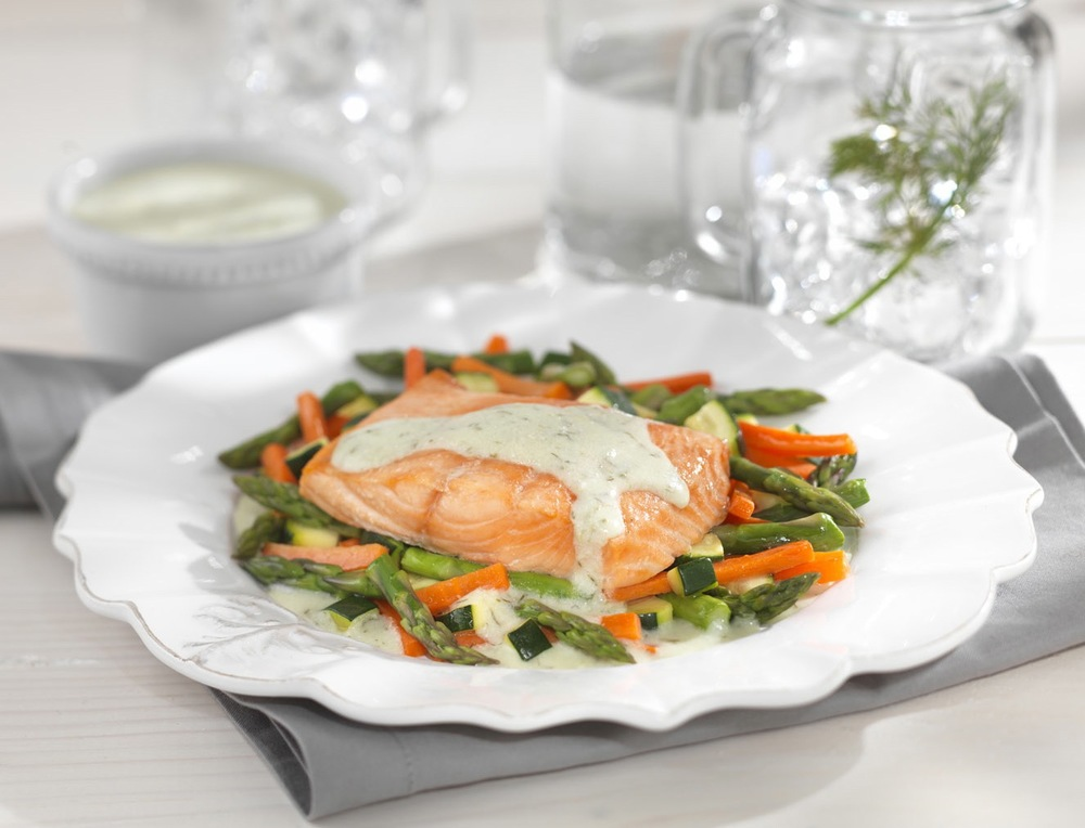 Dilled Salmon with Mixed Vegetables