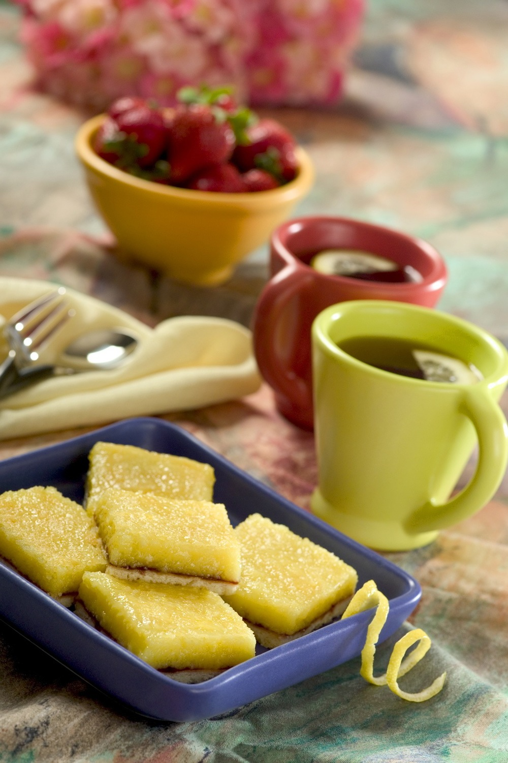 Lemon Bars with Coffee Fitness Magazine