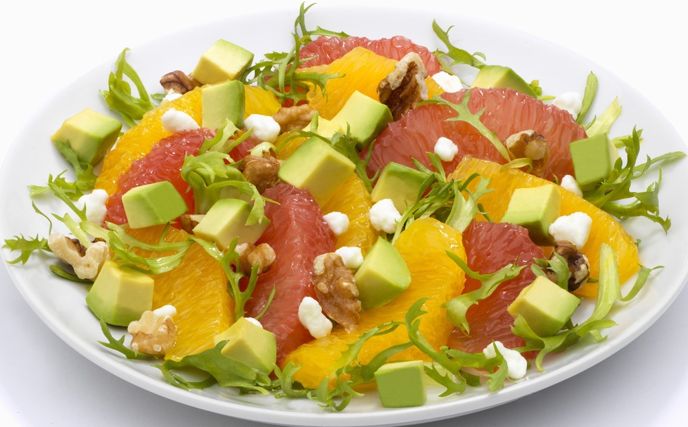 Avocado Citrus Goat Cheese Salad