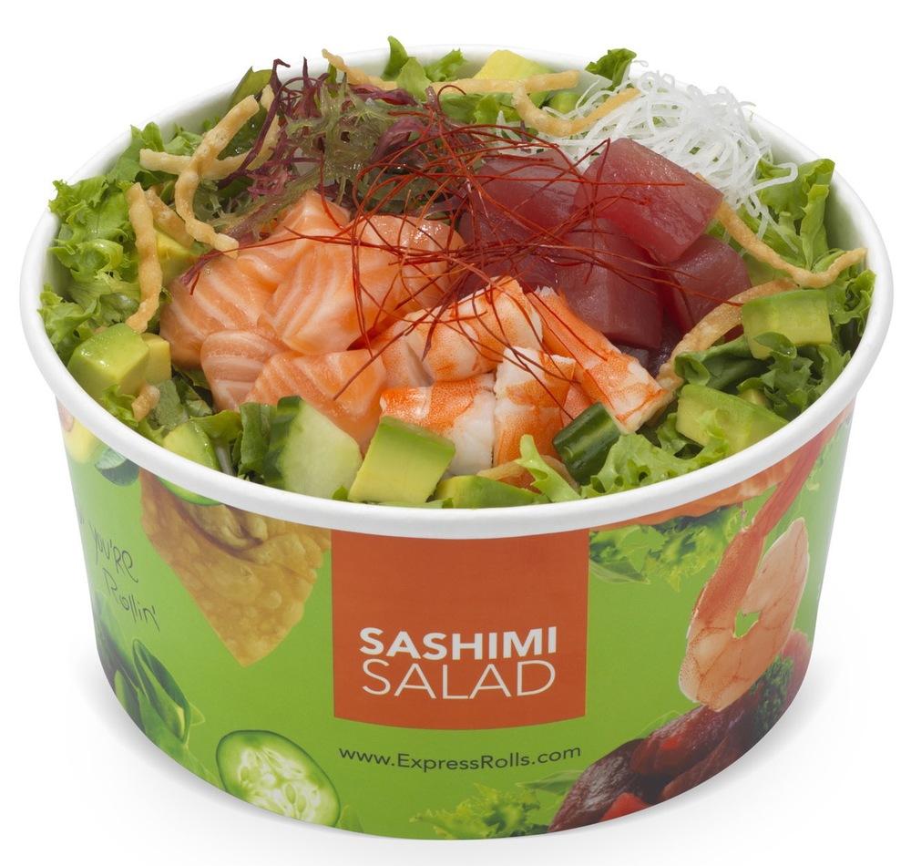 Sashimi Salad Expressrolls.com