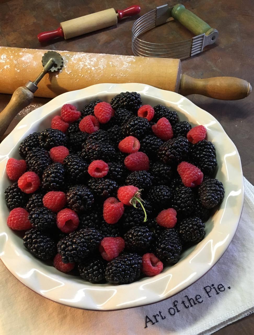 Mixed Berry Pie Still Life