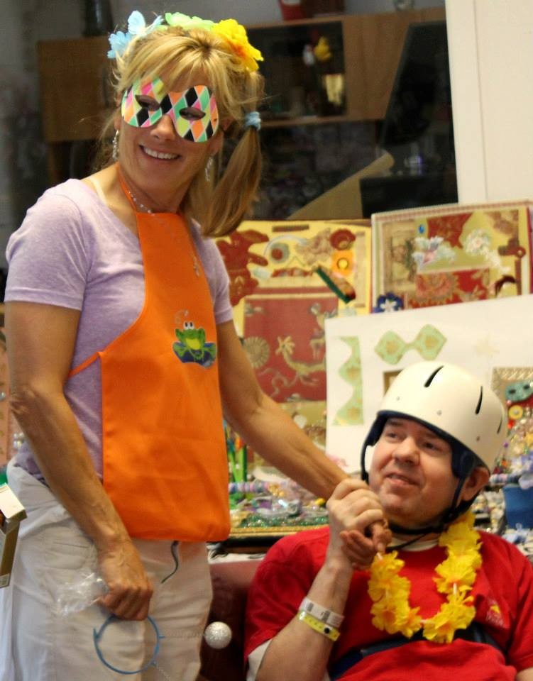 "A volunteer visits the Adult Developmental Activities program, bringing cheer into Alan's day with ""Wacky Wednesday""."