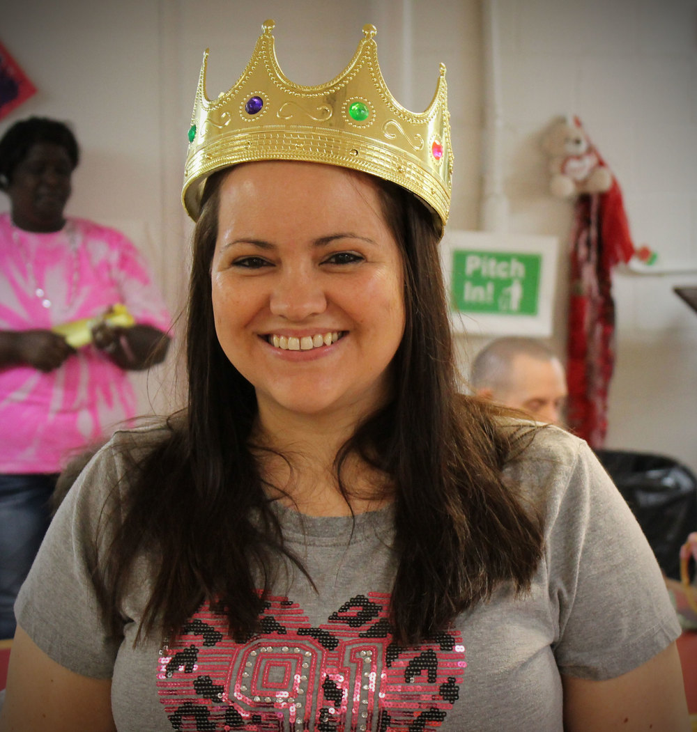 Tracey was crowned Queen for the Day