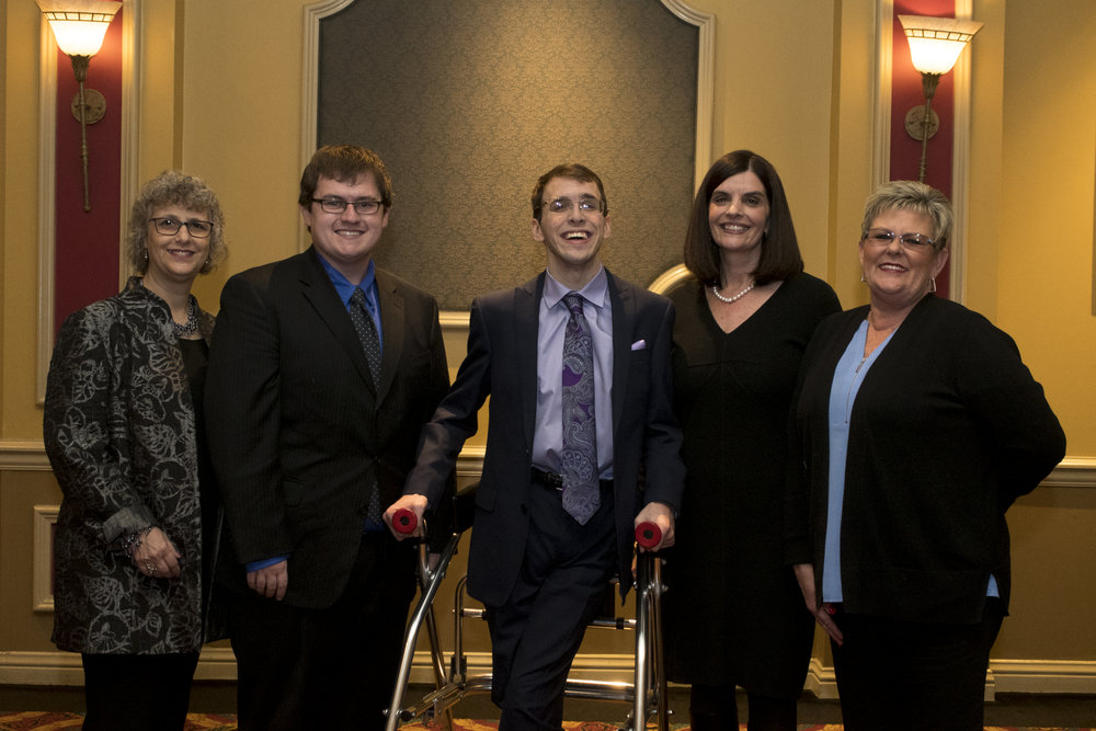 2017 imagine awards Honorees and recipients (L to R) Rabbi Rooks, Ethan Schmidt, BRyce wooley, Dawn lee and brenda thompson.