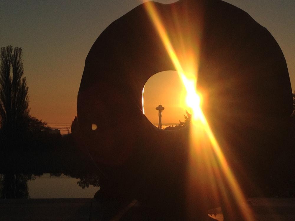 noguchi's 'black sun' sculpture.