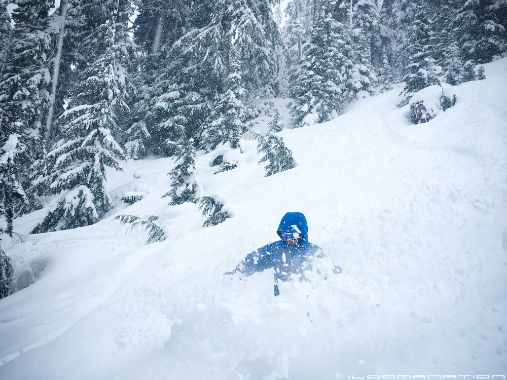 my good friend, jesse gorham finding pow in the glades off chair six.