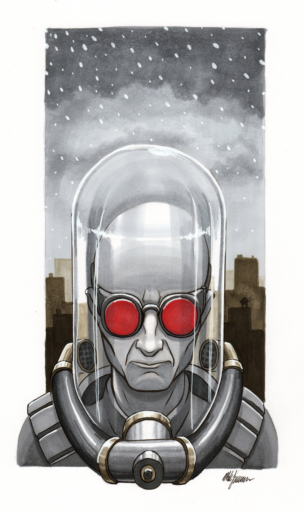 Mr. Freeze   Copic marker on Bristol SOLD