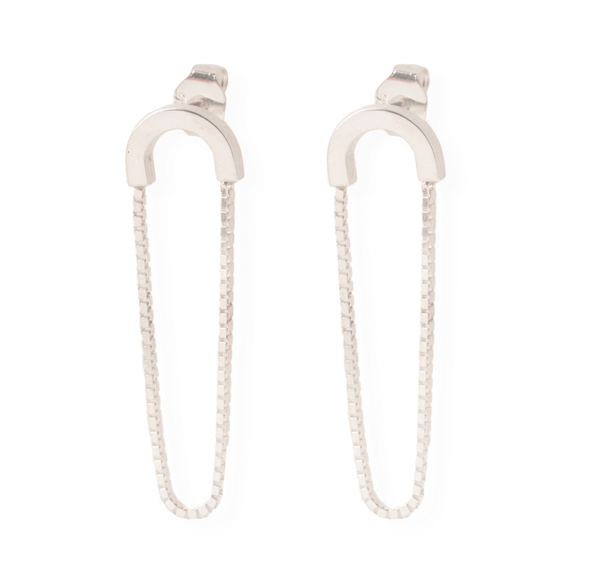 Earring 'Volt' Wire Round Silver -€100,00
