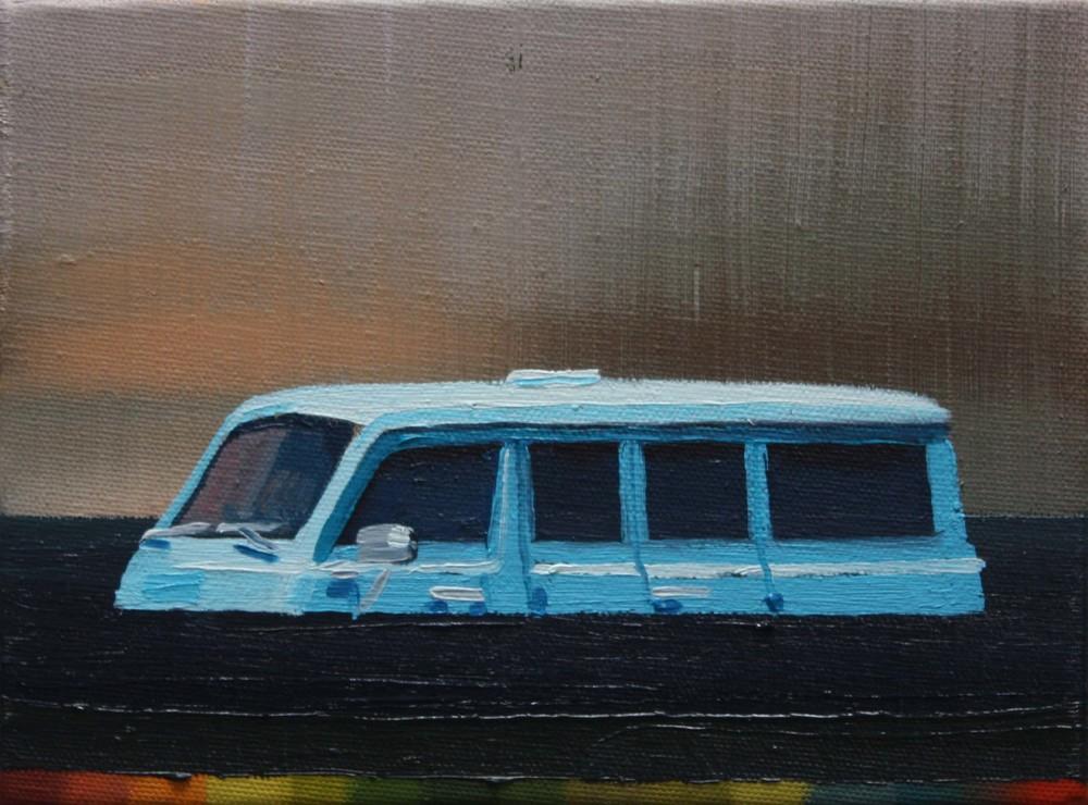 Sinking Blue Van