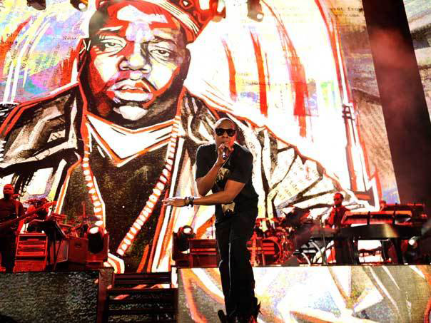 Jay Z live on stage