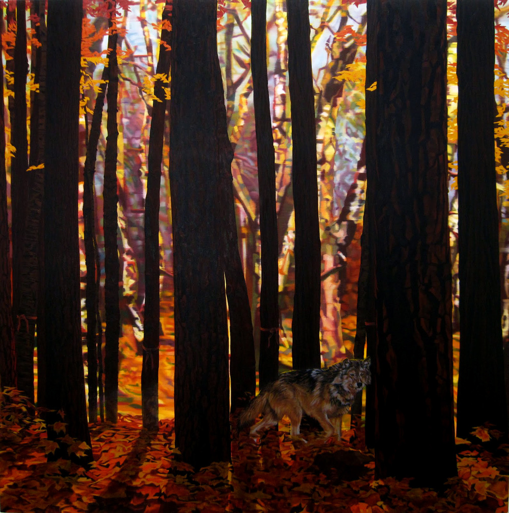 Private Commission  Oil on canvas  96 x 96 inches