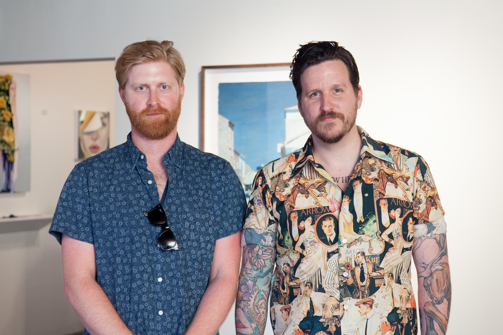 Erik Jones and I. Erik had a great show in the project room. Check out his amazing work at www.erikjonesart.com